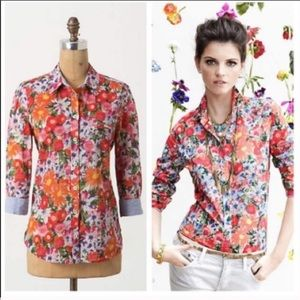Floral top from Anthropologie